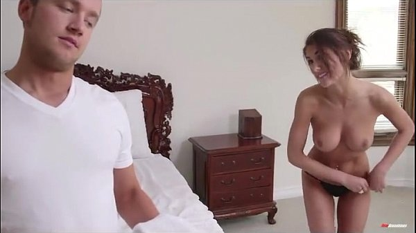 Beautiful step sister is caught with towel afte...