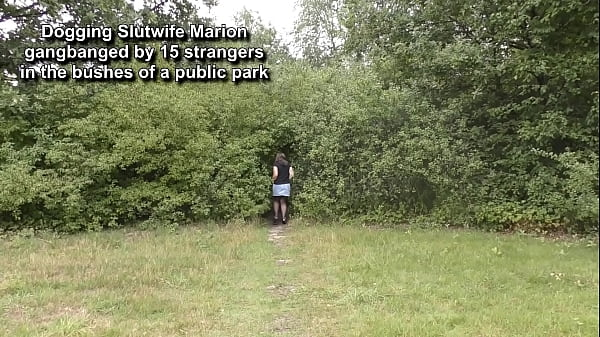 Marion fucked by 15 strangers in the park