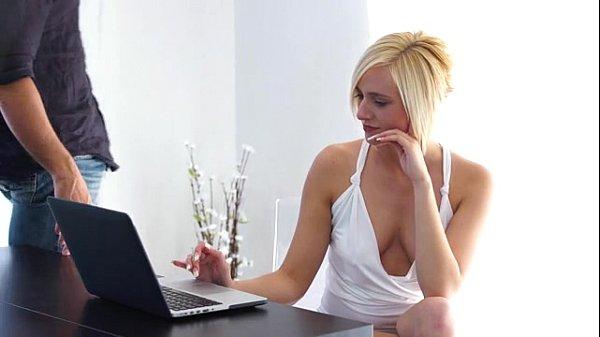 Horny Blonde Kate England Makes Her Man Cum - EroticVideosHD.com