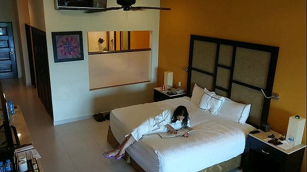 Young girl molested, forced to fuck and creampied against her will by hotel room intruder hidden spy cam POV Indian Thumb
