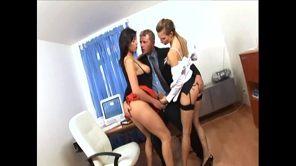 Secretaries at the office have a threesome