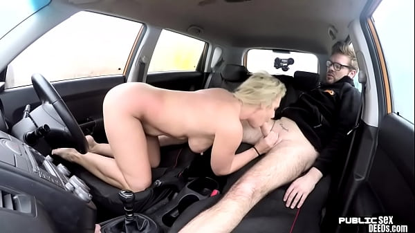 English milf publicly blows driving instructor