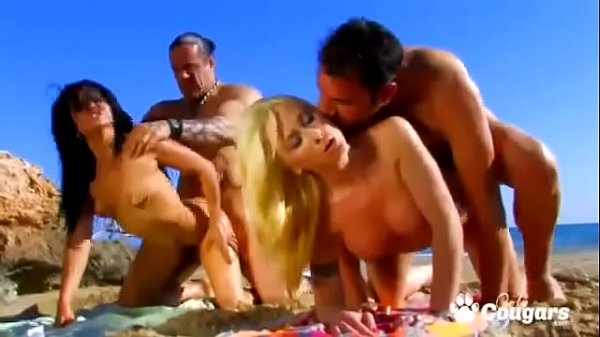 Yesenia Rock & Angelica Castro Have An Orgy At A Nude Beach