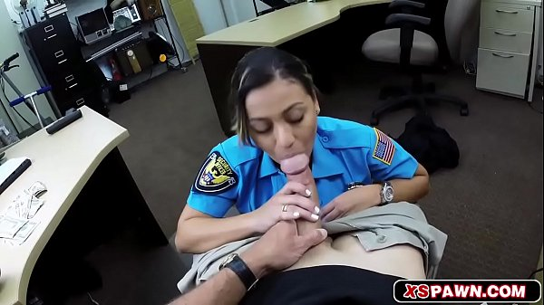 Hottie babe officer wants to fuck for quick cash