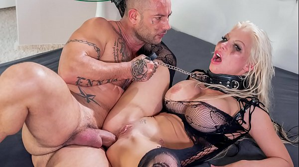 HER LIMIT - Silicone tits blonde Barbie Sins extreme anal session Thumb
