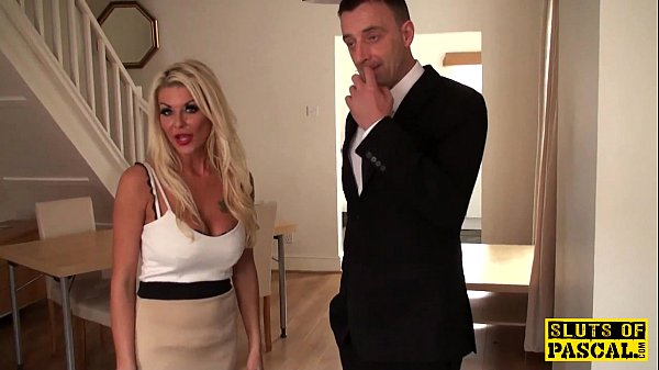 Busty brit sub dominated by her maledom Thumb