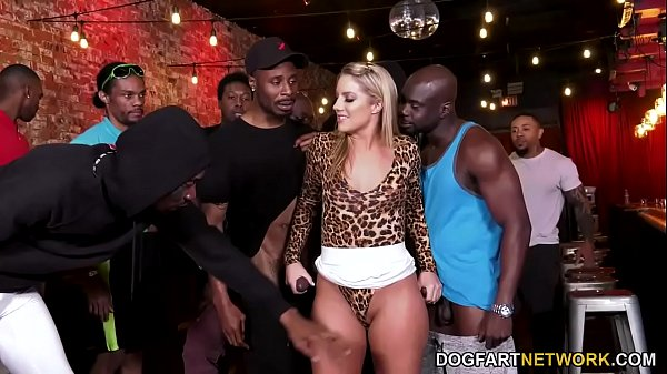 BBC Slut Candice Dare Survives Interracial Gangbang In A Bar Thumb