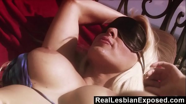 RealLesbianExposed - Blindfolded Holly Halston Doesn't Know She's Gone Lesbo Thumb