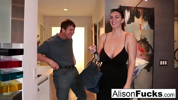 Busty Alison Tyler meets her Catfish then fucks his friend Thumb