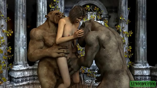 Double penetrated by Ogres. 3DX animation Thumb