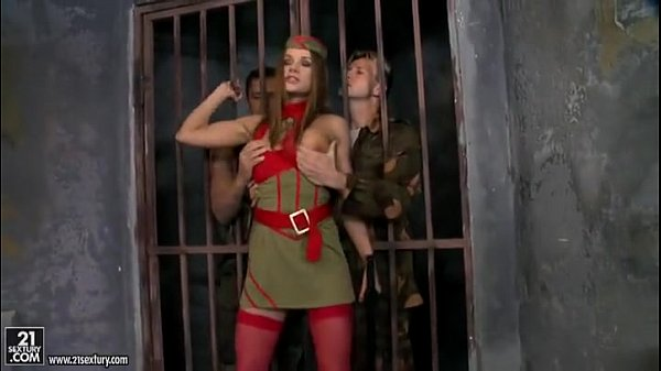 Captured Soldier Slut gets Fucked in Her Holes by Two Dicks  wwwtube8com