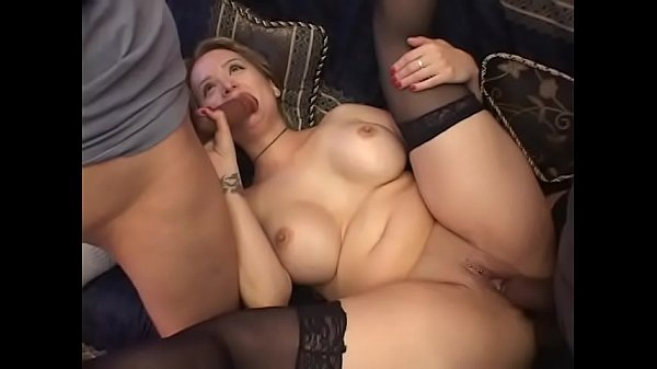 Curvacious blonde housewife with big knockers and massive garage Sophia Mounds invites couple of good-for-nothing but fucking latin studs Thumb