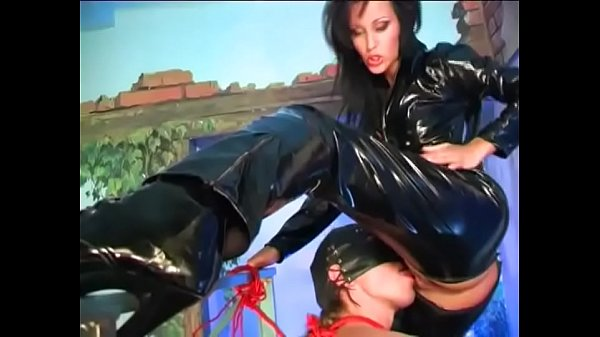 Hot bitch in leather fucked hard