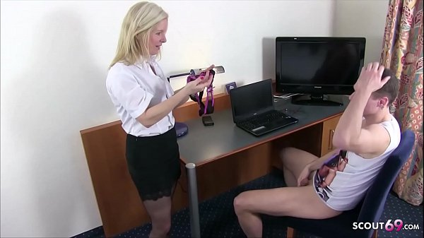German Mother Caught Step Son Panty Sniff and Help with Fuck