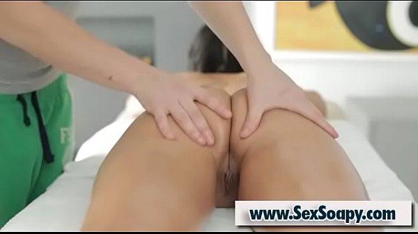 Exotic client Myranda gets pussy massage