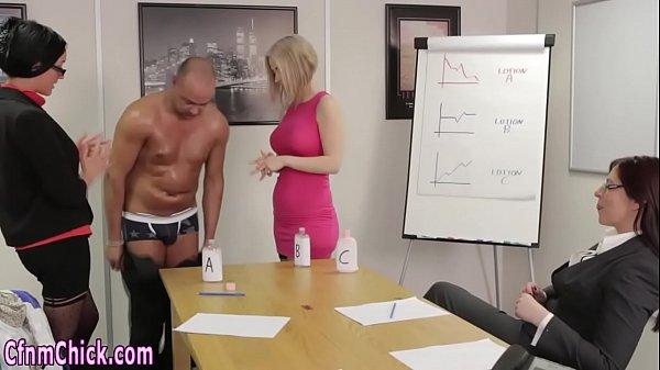 Classy dominas jerk dick