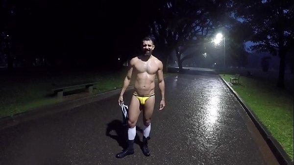 Walking with Short Shorts