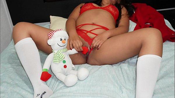Presente de natal com amadora safada fodendo gostoso