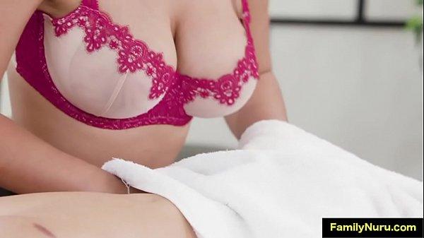 Stepsister with big tits sexy massage scene