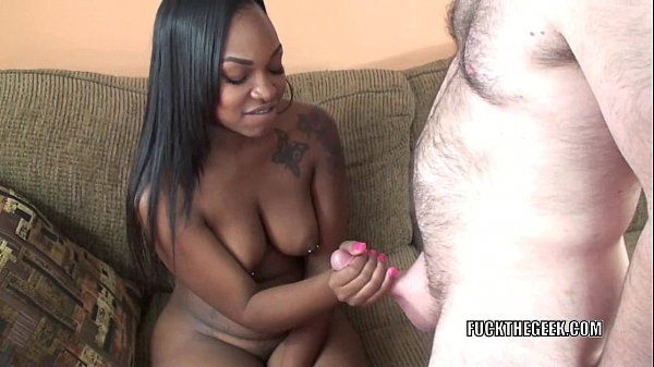 Ebony hottie Nikki Ford takes on a stiff white cock Thumb