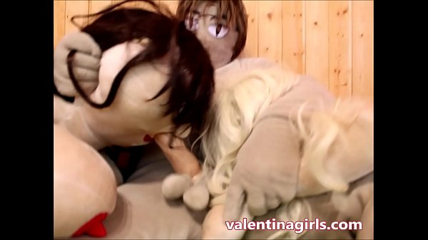 One Chubby and One Slim Sex Doll Fucked in Pussy, Ass, Mouth, and ATM  thumbnail