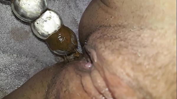 Doppeldildo squirt mit dreckigem anal