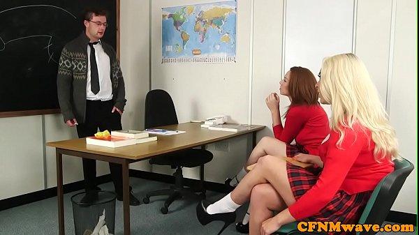 Schoolgirl cfnm wanking teachers cock Thumb