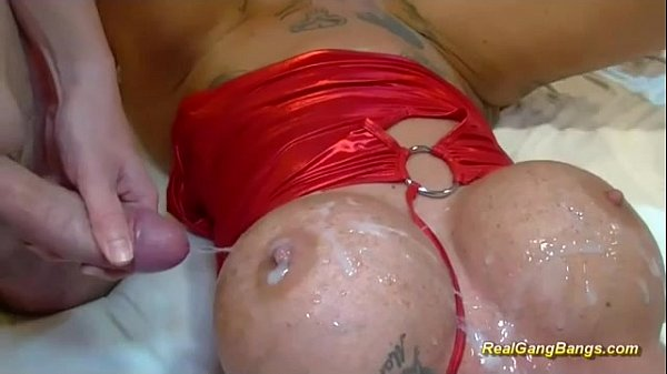 busty tattooed german in wild gangbang Thumb