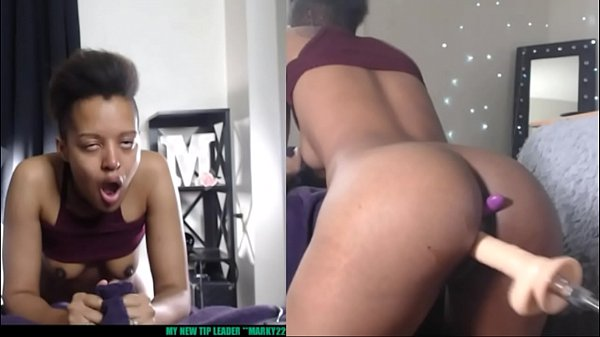 Ebony Squirts From Fucking Machine Live on Web Cam Marvelgal Thumb