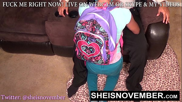 BlackSchoolGirl Must Give Step Dad Head For Bad Grades, Innocent Step Daughter Msnovember Suking Daddy Dick POVblowjob On Sheisnovember Thumb