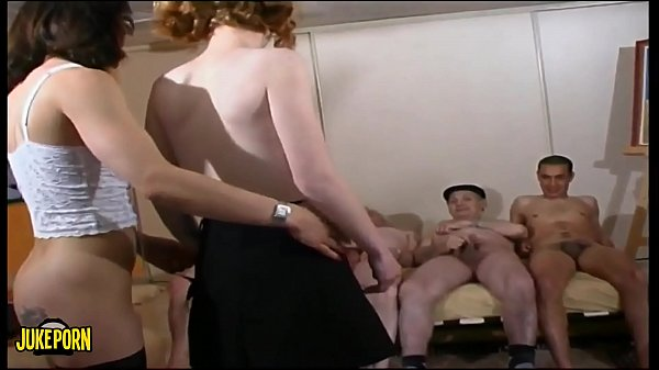 Young womans and old mens fucking in group Thumb