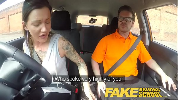 Fake Driving School Messy creampie advanced lesson for tattooed thot Thumb