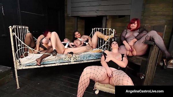 Angelina Castro & 4 Curvy BBW's Masturbate Their Pussies!