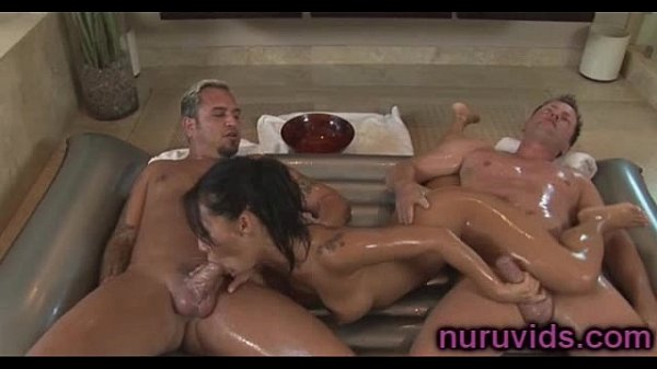 Asa Akira double massage action