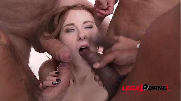 Redhead Linda Sweet Drinks Anal Creampies After Fucking