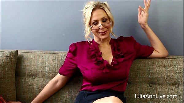 Busty Blonde Teacher Julia Ann Fucks Herself! Thumb
