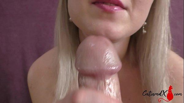 Sexy Wife Sensual Handjob and Blowjob - Cum on Tits