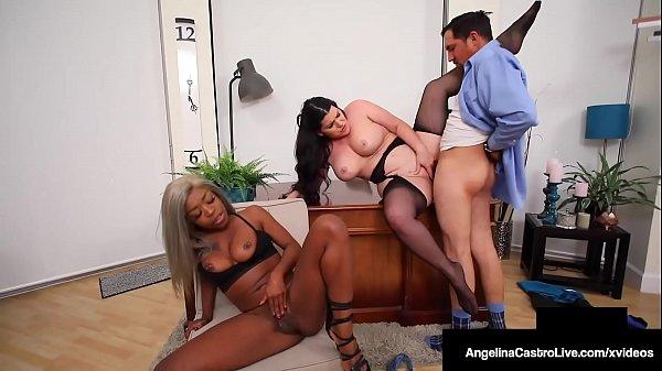 Hot Thick Angelina Castro & Ebony Harmonie Marquis Milk Cock