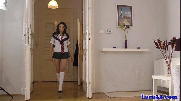 Analfingering mature eats schoolgirls pussy