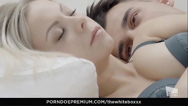 THE WHITE BOXXX - Porcelain blondie Julia Parker eats cum in erotic fuck