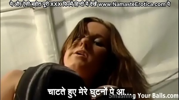 Hot babe makes a slave of her businessman boyfriend makes him lick her feet her ass and whips him with HINDI subtitles by Namaste Erotica dot com Thumb