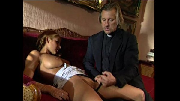 Young blonde lolita punished and fucked by pervert priest Thumb