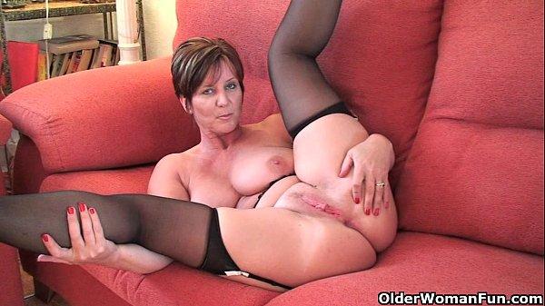 British granny Joy with big tits shows her fuckable body Thumb
