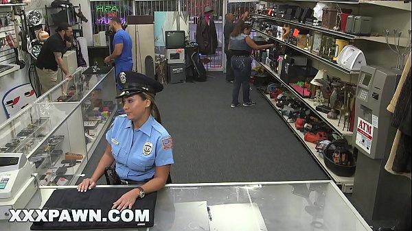 XXX PAWN - Pervy Pawn Shop Owner Fucks Latin Police Officer