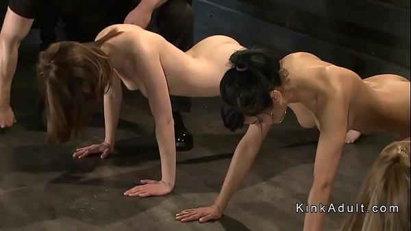 Masters training group of slave sluts Thumb