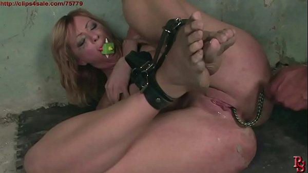 Gabriella's hard BDSM treatment, to be Master's obedient slave. BDSM movie.