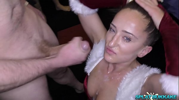 Sexy Isabella Christmas bukkake party cumshots and facials Thumb