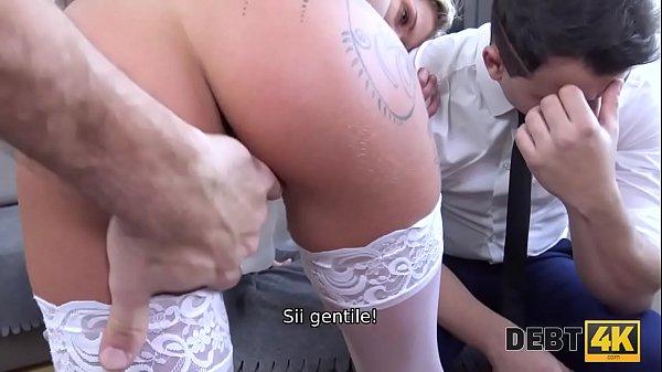 DEBT4k. Hottie in abito da sposa bianco soddisfa straniero per $ 5000 Thumb