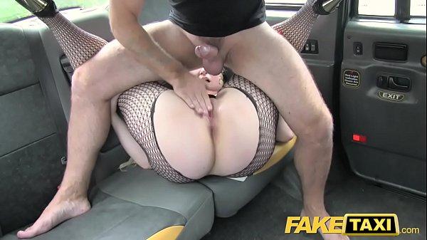 Fake Taxi Blonde likes older men in backseat of London cab