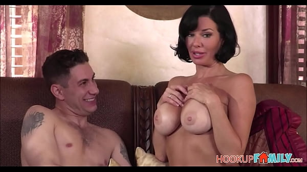 Horny Big Tits MILF Step Mom Veronica Avluv Has Sex With Big Cock Step Son In Her Bed